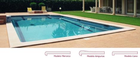 Coronaci n en piedra artificial coronaci n piscina for Coronacion de piscinas